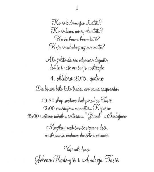 tekst za pozivnicu za rođendan Texts and fonts | MondoSposa tekst za pozivnicu za rođendan